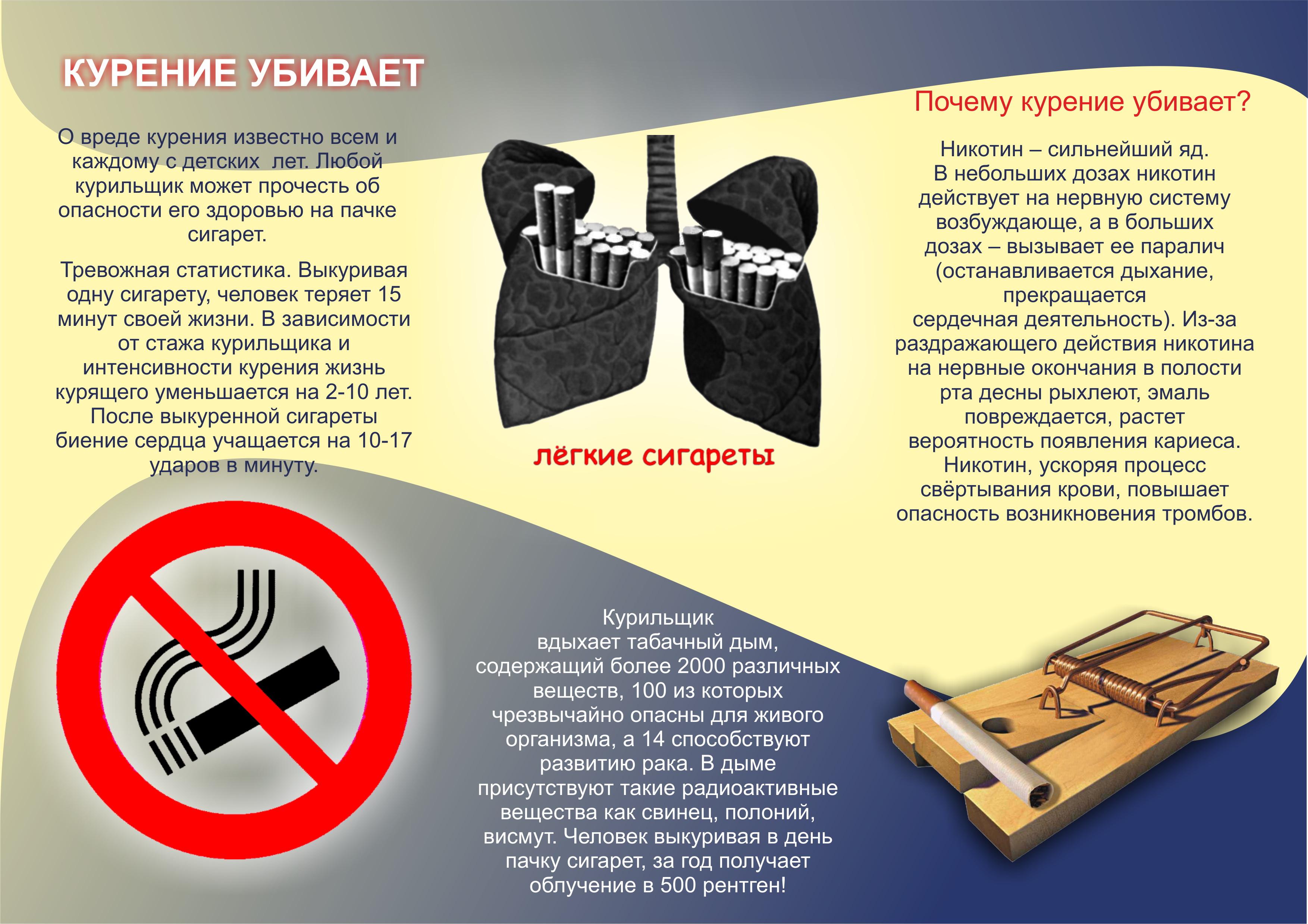 буклет о курении картинки любой специальности, которая